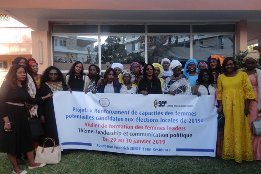 Atelier de formation des femmes leaders des partis politiques sur le leadership et la communication