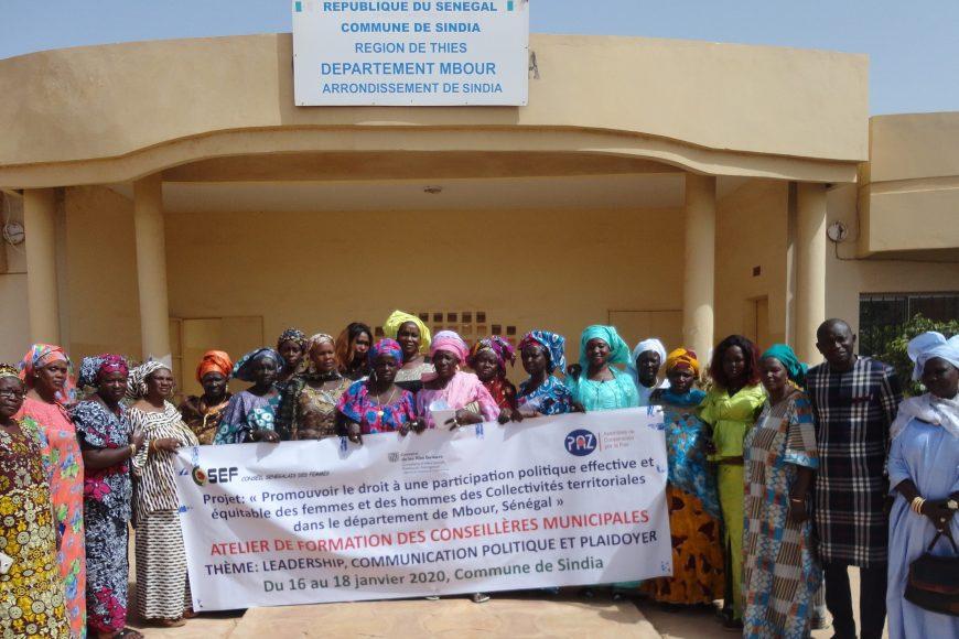 Formation sur le leadership féminin, la communication et le plaidoyer dans les communes de Nguékhokh, Sindia et Diass S